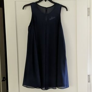 BCBG Navy Blue Shift Dress, M